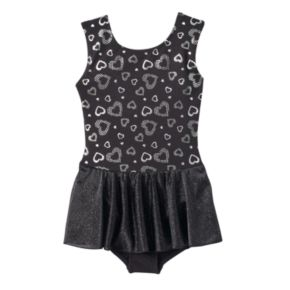 Girls 4-16 Jacques Moret Silver Hearts Tank Skirtall