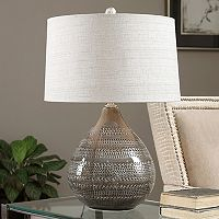 Batova Textured Ceramic Table Lamp