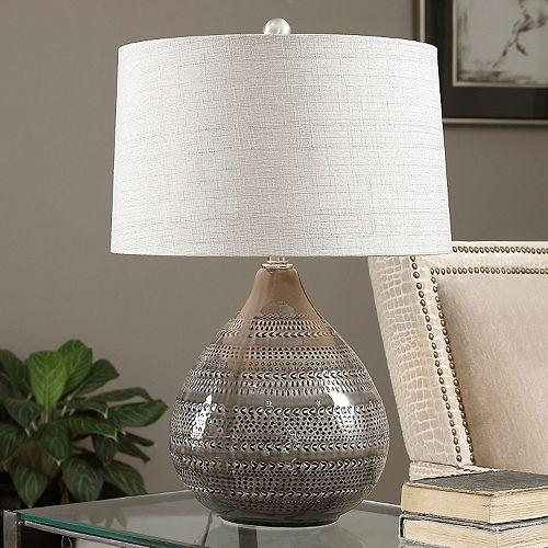 Batova Textured Ceramic Table Lamp