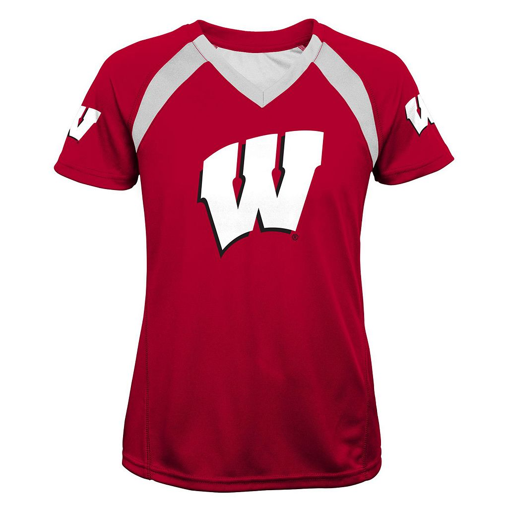 Girls 7-16 Wisconsin Badgers Fashion Tee