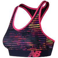 New Balance Bras: Pace Printed Medium-Impact Sports Bra WB71034