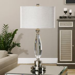 Torlino Oval Faux Crystal Table Lamp