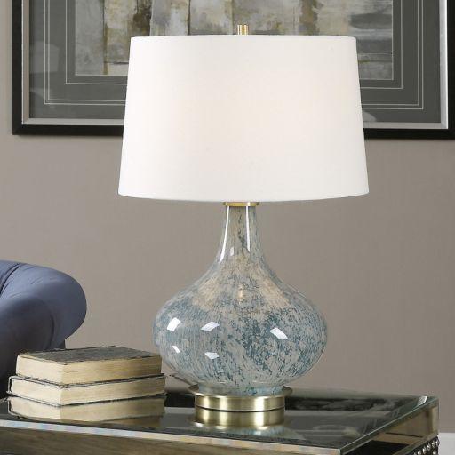 Celinda Round Glass Table Lamp