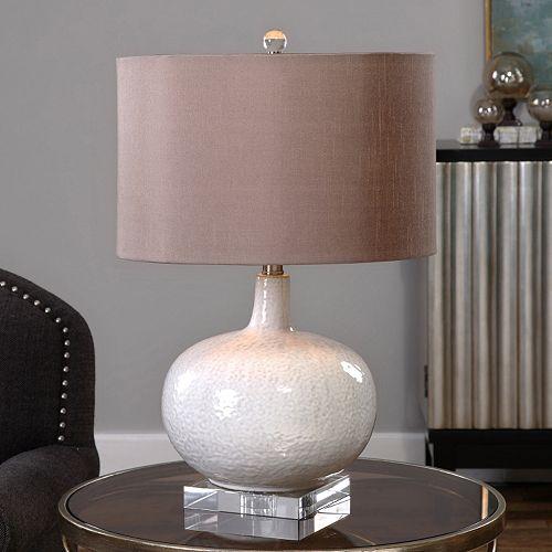 Parvati Distressed Glaze Finish Ceramic Table Lamp