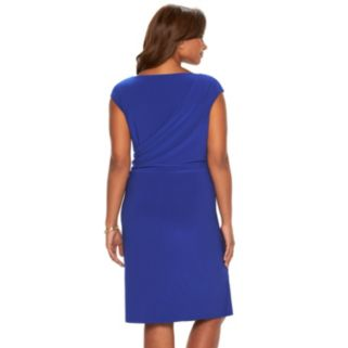 Plus Size Chaps Draped Ruched Sheath Dress