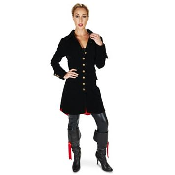 Adult Velvet Pirate Jacket Costume