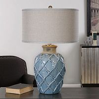 Parterre Weave Ceramic Table Lamp