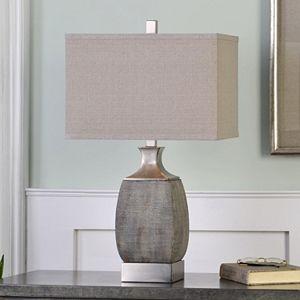 Caffaro Textured Bronze Finish Ceramic Table Lamp
