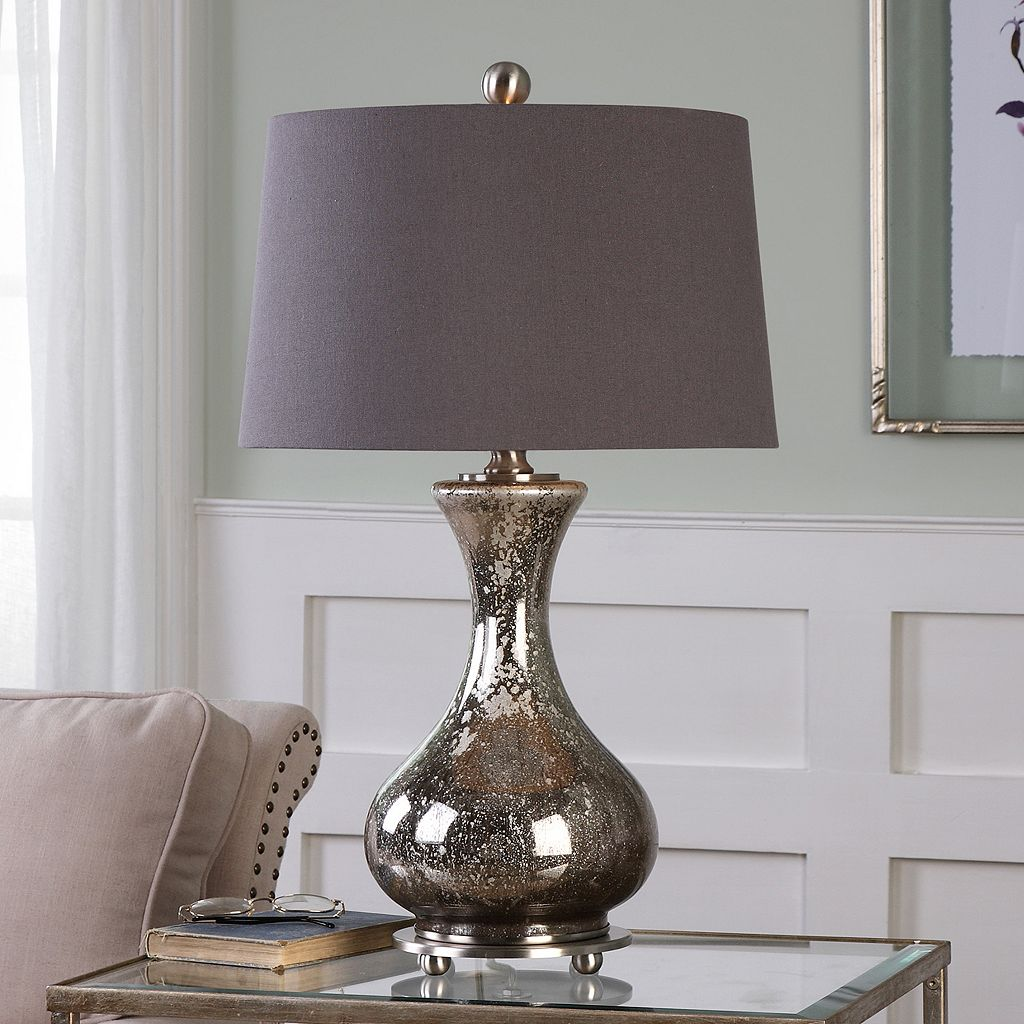 Pioverna Distressed Mercury Glass Table Lamp