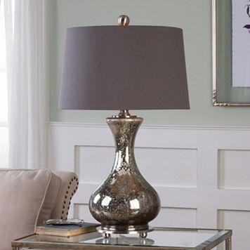 Pioverna Distressed Mercury Glass Table Lamp