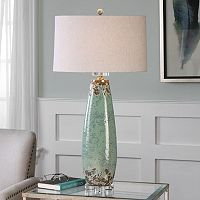 Rovasenda Distressed Crackle Ceramic Table Lamp