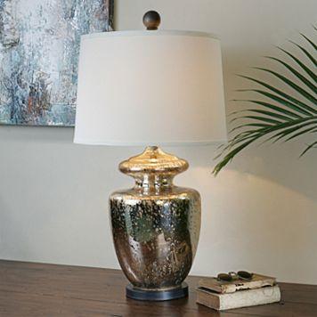 Ailette Speckled Mercury Glass Table Lamp