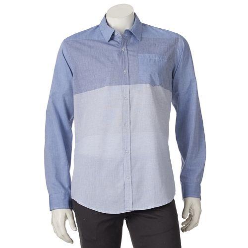 Men's Burnside Colorblock Button-Down Shirt