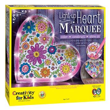 Creativity For Kids Light-Up Heart Marquee