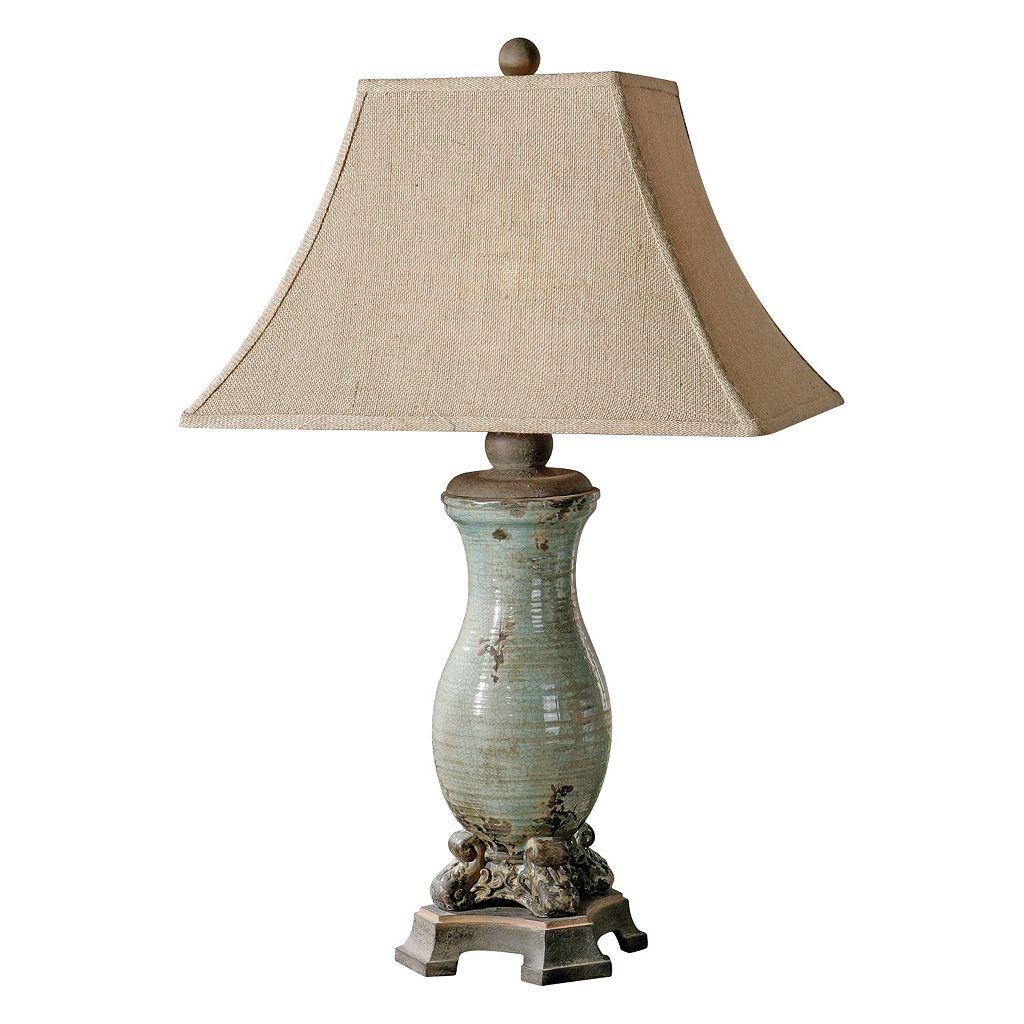 Andelle Distressed Glaze Finish Ceramic Table Lamp