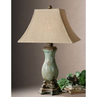 Andelle Distressed Glaze Finish Ceramic Table Lamp