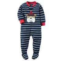 Baby Boy Carter's Animal Fleece Footed Pajamas
