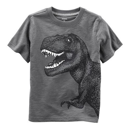 Toddler Boy Carter's Glow-In-The-Dark Dinosaur Graphic Tee