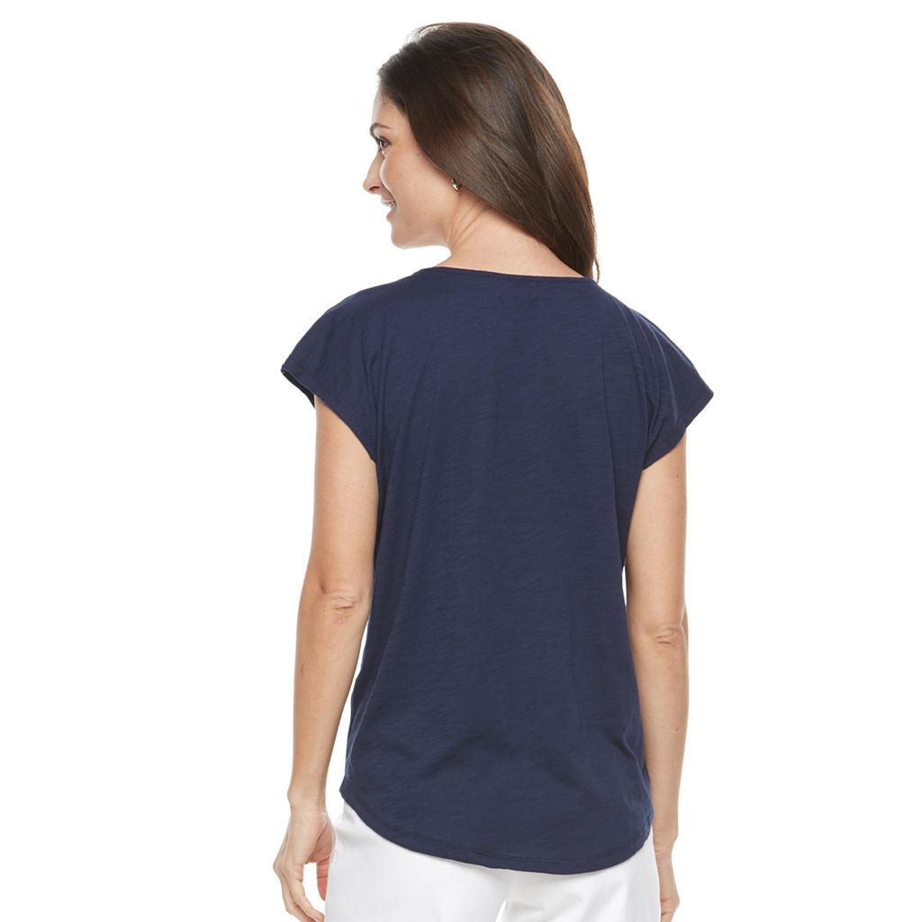 Women's Kate and Sam Embroidered V-Neck Tee
