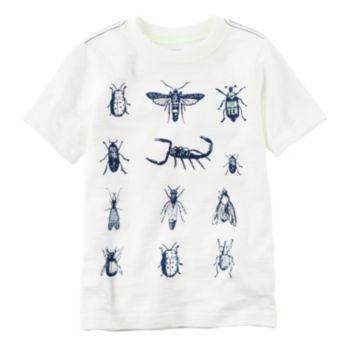 Toddler Boy Carter's Short Sleeve Bugs Graphic Tee