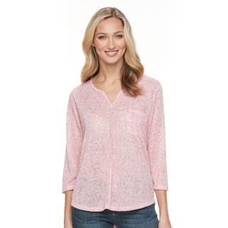 Women's Kate and Sam High-Low Linen Tee