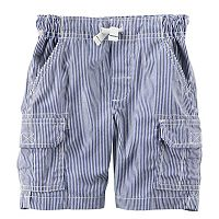 Toddler Boy Carter's Pinstripe Canvas Cargo Shorts