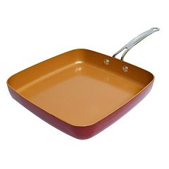 As Seen on TV Red Copper 9.5 in Square Dance Pan