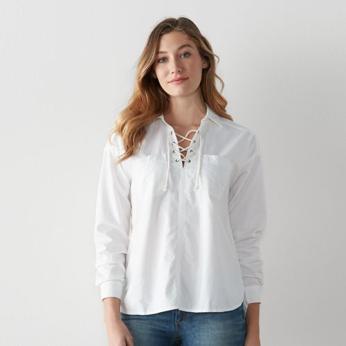Women's SONOMA Goods for Life™ Lace Up Shirt