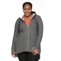 Plus Size Wild Majesty French Terry High-Low Hoodie