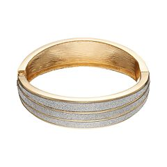 Jennifer Lopez Glittery Hinged Bangle Bracelet