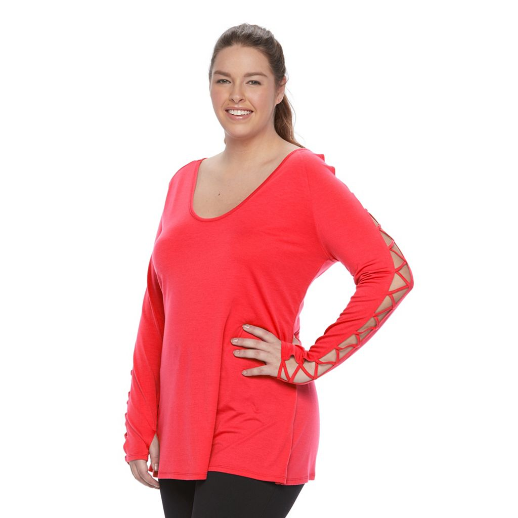 Plus Size Wild Majesty Lace-Up High-Low Tee