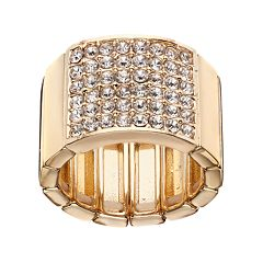Jennifer Lopez Pave Square Stretch Ring