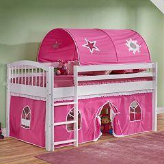 Bolton Addison Junior Pink Playhouse Loft Bed