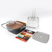 Gotham Steel 5-pc. Nonstick Titanium & Ceramic Deep Square Frypan Set As Seen on TV