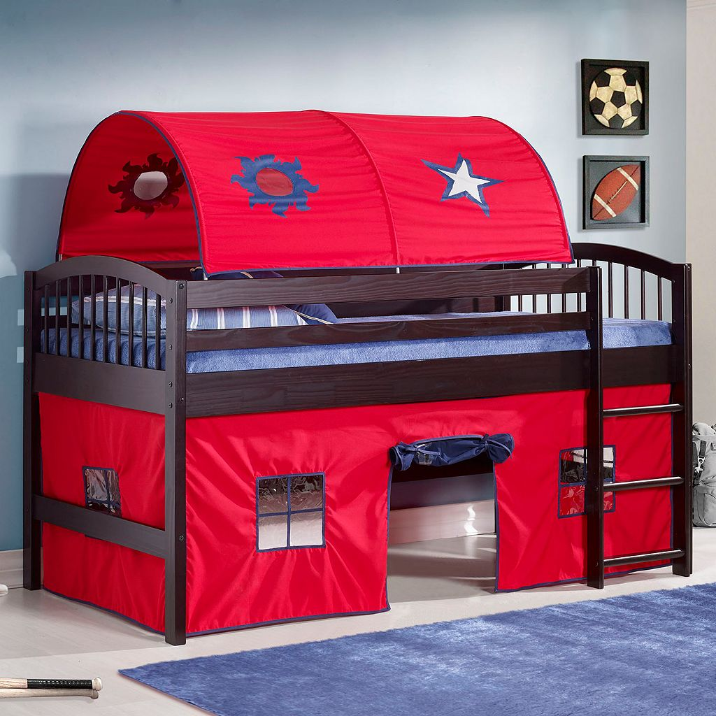 Bolton Addison Junior Red Playhouse Loft Bed