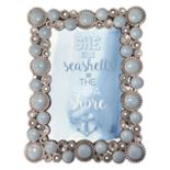 "Belle Maison Light Blue Jeweled 4"" x 6"" Frame"