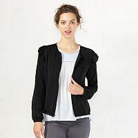 Women's LC Lauren Conrad Ruffle Bomber Jacket