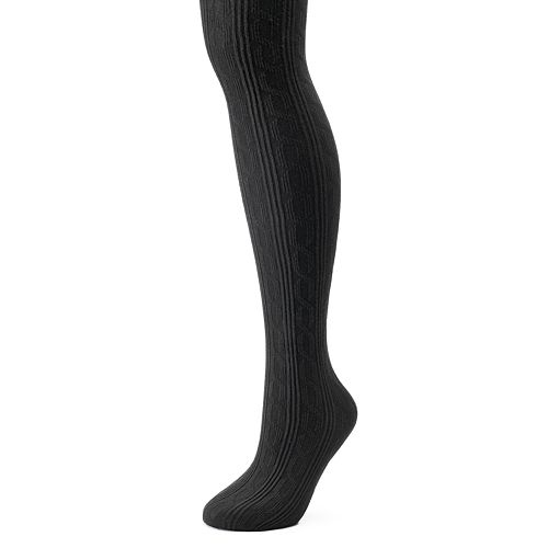 ac3e89e8744ed Women's Cuddl Duds Cable-Knit Sweater Tights