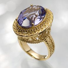 Simply Vera Vera Wang 18K Gold-Over-Silver Tanzanite Crystal Ring :  kohls accessories simply vera jewelry