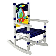 Fantasy Fields Outer Space Hand Crafted Rocking Chair by
