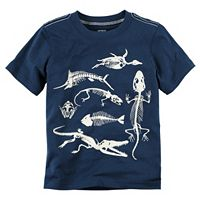 Toddler Boy Carter's Glow-In-The-Dark Animal Skeleton Graphic Tee