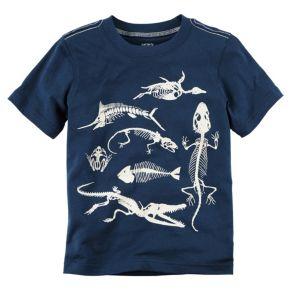 Toddler Boy Carter's Glow-In-The-Dark Animal Skeleton Graphic Tee