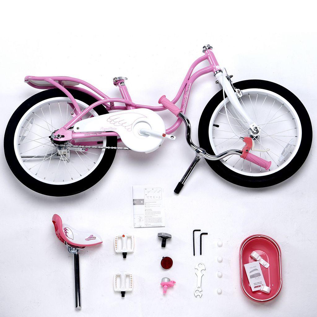 Girls Royalbaby Little Swan 18-Inch Bike with Basket