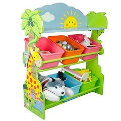 Fantasy Fields Sunny Safari Animals Hand Crafted Toy Organizer & Storage Bins by