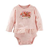 Baby Girl OshKosh B'gosh® Graphic Eyelet Mocklayer Bodysuit