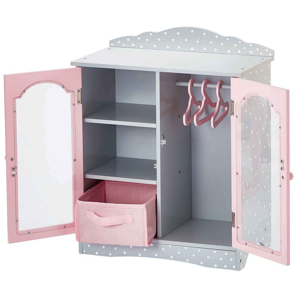 Olivia's Little World 18-Inch Fancy Doll Closet & Cubby Furniture Set
