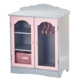 Olivia's Little World 18-Inch Fancy Doll Closet & Cubby Furniture Set