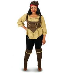 Adult Plus Runaway Pirate Queen Costume by
