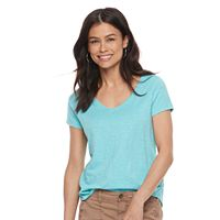 Petite SONOMA Goods for Life™ Essential Print V-Neck Tee