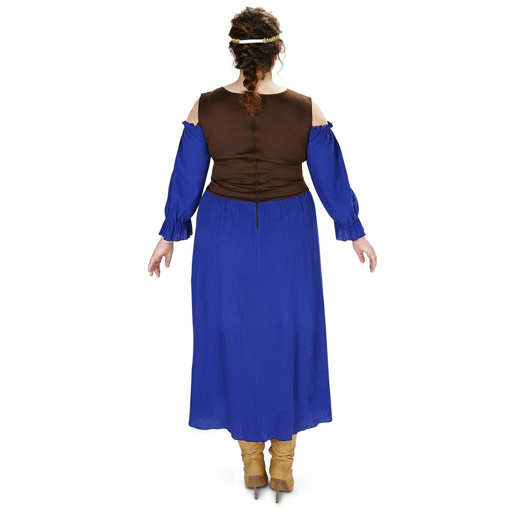 Adult Plus Renaissance Purple Peasant Dress Costume